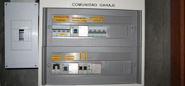 Cuadro eléctrico rotulado