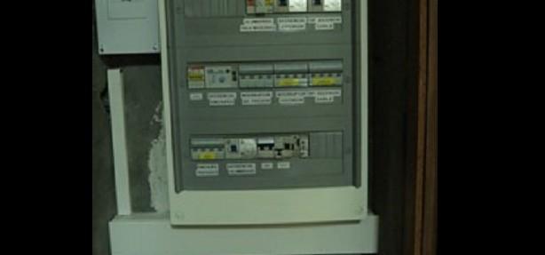 Cuadro de protección terminado y rotulado