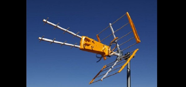 Antena para captación de señales de Televisión