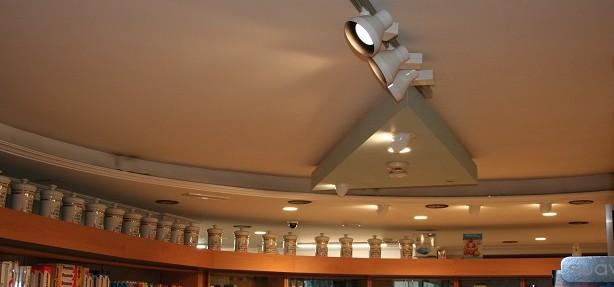 Iluminación mediante proyectores de carril